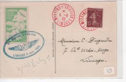 Carte Meeting Aviation Limoges Du 5/6/32 - Storia Postale