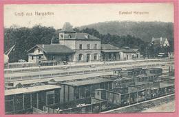 57 - GRUSS Aus HARGARTEN - Bahnhof - Gare - Wagons - Voir Cachets Au Dos - 3 Scans - Zonder Classificatie