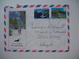Lettre Polynésie Française Papette Voyagé Par Avion Pour La France - Frans-Polynesië