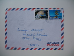 Lettre Polynésie Française Papette Voyagé Par Avion Pour La France - Polinesia Francese