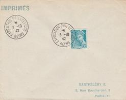 OBLIT. EXPO. PHILAT. REIMS 10/1942 - Cachets Commémoratifs