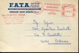 33346 Italia, Red Meter/freistempel/ema/ 1968 Udine Consorzio Agrario Provinciale Udine, On Circuled Card - Poststempel - Freistempel