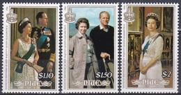 Niue 1986 Geschichte History Persönlichkeiten Herrscher Königshäuser Royals Königin Elisabeth II. Philip, Mi. 658-0 ** - Niue