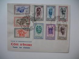 FDC  Lettre  1960  Côte D'Ivoire   Postes Et Télécommunications  Série Des Masques Et Des Casques Abidjan - Ivory Coast (1960-...)