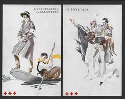 MASSONET - 4 Cartes Croix Rouge De Belgique - Autres Illustrateurs
