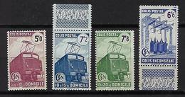 """FR Colis Postaux YT 230A à 232A 233 """" Nles Valeurs Avec Filigranes """" 1945 Neuf** - Paketmarken"""