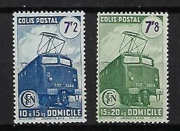 "FR Colis Postaux YT 231BA à 232B "" Nles Valeurs Sans Filigrane "" 1945 Neuf** - Paketmarken"