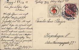 Vignette Croix Rouge 5 Kreuz Pfennig Sammlung 1914 YT Germania CAD Leipzig Volkmersdorf CP Croix De Fer Propagande - Used Stamps