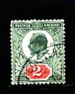 GREAT BRITAIN - 1902  EDWARD VII  2d  GREEN & CARMINE  FINE USED  SG 228 - 1902-1951 (Re)