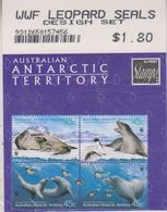 AAT 2001 Leopard Seals 4v (in Bl)  As From The Philatelic Service (unopened) ** Mnh (29318) - Australian Antarctic Territory (AAT)
