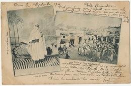 Tunis Juive Judaica / Place Bab Djedid Voyagé 1901  No 13 Phot Louit - Tunisia