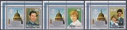 Niue 1982 Geschichte History Persönlichkeiten Herrscher Königshäuser Royals Charles Diana William, Aus Mi. 642-7 ** - Niue
