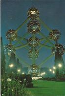 8Eb-879: 5 Atomium ....verlicht..  102m... - Brussel Bij Nacht