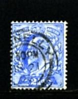 GREAT BRITAIN - 1902  EDWARD VII  2 1/2d  ULTRAMARINE  FINE USED  SG 230 - 1902-1951 (Re)