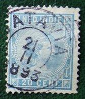Prinses Wilhelmina 20 Ct NVPH 26 1892-1897 Gestempeld / Used NEDERLAND INDIE / DUTCH INDIES - Netherlands Indies