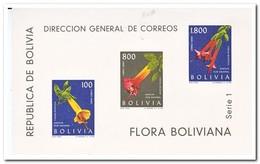 Bolivië 1962, Postfris MNH, Flowers - Bolivië