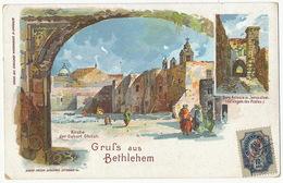 Gruss Aus Bethlehem Turquie Litho Schoembs Offenbach Russian Turkish Stamp - Palestine