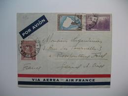 Lettre Argentine  Voyagé Par Avion Pour La France Seine Et Oise - Argentina