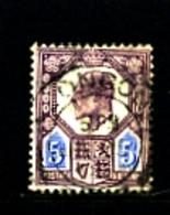 GREAT BRITAIN - 1902  EDWARD VII  5d  PURPLE & ULTRAMARINE  FINE USED  SG 242 - 1902-1951 (Re)