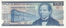 México 50 Pesos 27-1-1981 KA-KB Pick 73 UNC - México