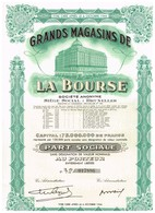 Titre Ancien GRANDS MAGASINS DE LA BOURSE PART SOCIALE - Textile