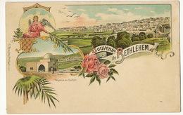 Souvenir De  Bethlehem Litho Color  Brandes Stuttgart  Rachel - Palestine