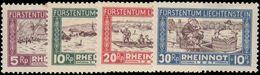 Liechtenstein 1928 Flood Relief Lightly Hinged.  Tone Spot On 5pf - Liechtenstein