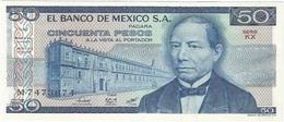 México 50 Pesos 27-1-1981 KX Pick 73 UNC - México
