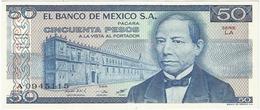México 50 Pesos 27-1-1981 LA Pick 73 UNC - México