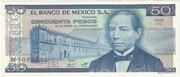 México 50 Pesos 27-1-1981 LC-LD Pick 73 UNC - México