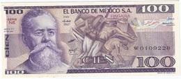 México 100 Pesos 27-1-1981 NE Pick 74.a UNC - México