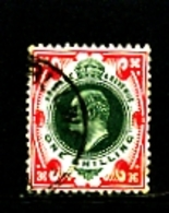 GREAT BRITAIN - 1902  EDWARD VII  1s  GREEN & CARMINE  FINE USED  SG 257 - 1902-1951 (Re)
