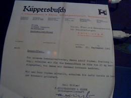 Facture Allemande De 1941 Kuppersbufch Et  Sohne Aktiengesellschafr Gelsenkirchen - Allemagne