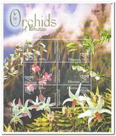 Bhutan 2002, Postfris MNH, Flowers, Orchids - Bhutan