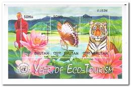 Bhutan 2002, Postfris MNH, Flowers, Butterflies, Tiger - Bhutan