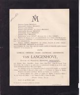 ALOST AALST  Camille Van LANGENHOVE épouse Edmond BRECKPOT 1853-1908 - Décès