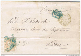28416. Carta Entera VALENCIA 1870 A Francia. Alegoria 12 Cuartos - Cartas