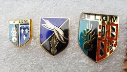 "Pin's Gendarmerie   "" 3 Ecusson Gendarmerie "" - Army"