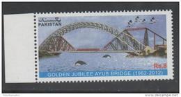PAKISTAN, 2012, AYUB BRIDGE, DOLPHINS, BIRDS, 1v - Bridges