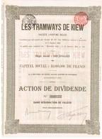 Ancienne Action - Les Tramways De Kiev - Titre De 1905 - Bahnwesen & Tramways