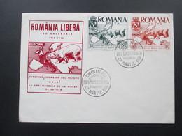 Rumänien 1958 Romania Libera Eisbär / Polar Bear. Chisinau Pro Basarabia. FDC. Dallay. Europa - Covers & Documents