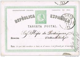 28418. Entero Postal MADRID 1874 ,  Edifil Num 6i, Tarjeta De Ida - 1850-1931