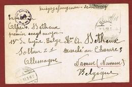 Krijgsgevangene Fantasiekaart Soltau - Namur 4 Juli 1918 - WW I