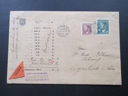 Böhmen Und Mähren 1944 Nachnahme Beleg Nach Ziegenhals In Schlesien. Hitler MiF. Briefmarkenhandlung Franz Kolar - Briefe U. Dokumente