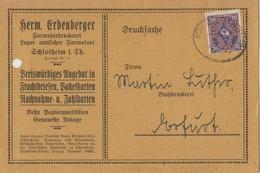 """4 082 Drucksache Bahnpost """"MÜHLHAUSEN-EBELEBEN"""" 1923 - Oblitérés"""