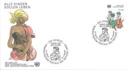 1er Jour FDC Nations Unies - Office De Genève N°135 Survie De L'Enfant - Fillettes - Office De Genève