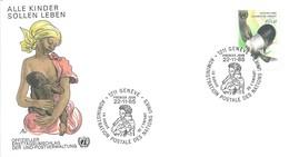 1er Jour FDC Nations Unies - Office De Genève N°136 Survie De L'Enfant - Réhydratation - Office De Genève