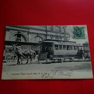 NEW YORK CITY CROSSTOWN RAPID TRANSIT 1905 TRAMWAY GROS PLAN - Transports