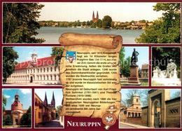 73209658 Neuruppin Panorama Ruppiner See Schloss Denkmal Kirche Dominikanerklost - Neuruppin