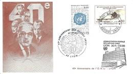 Commémoration Du 40ème Anniversaire De L'ONU - Office De Genève N°133 + France N°2374 - Office De Genève